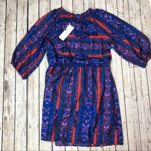 Collective Concepts Multi-Print Dress 3/4 Sleeve